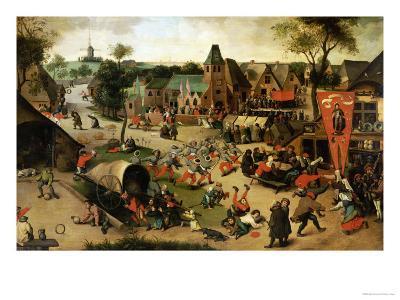 A Carnival on the Feastday of Saint George in a Village Near Antwerp