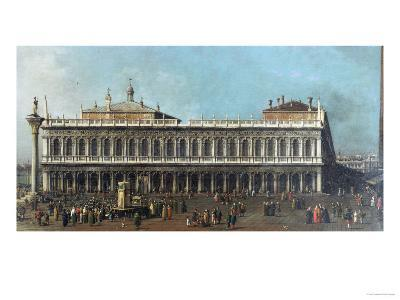 The Library and the Piazetta, Venice, Looking West, with Numerous Figures, circa 1740