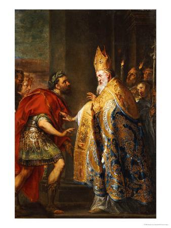 The Emporer Theodosius Before Saint Ambrose