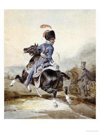 An Officer of the Artillary Galloping to the Left