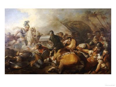 A Battle Between Two Roman Legion Enemies, French School, 1750