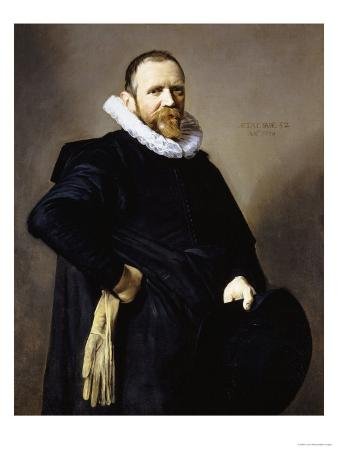 Portrait of a Gentleman, Standing Three-Quarter Length, Wearing a Black Costume
