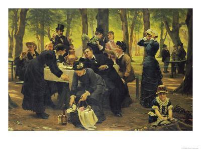The Picnic, Dyrehaven, 1883