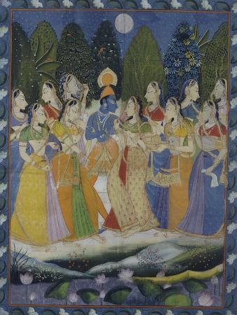 A Pichhavai of Krishna as Shrinthji, India, 19th Century