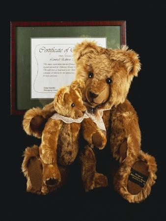 Mother and Child, Unique Golden Brown Plush Teddy Bears