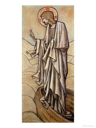 Christ Stilling the Waves: a Design for Stained Glass at Brighouse, Yorkshire, 1896