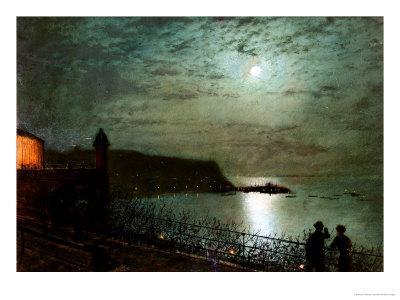 Scarborough by Moonlight from the Steps of the Grand Hotel