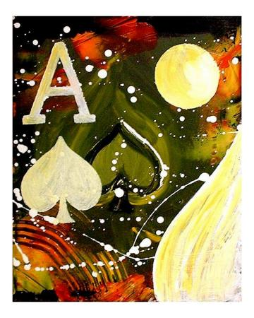 Abstract Ace of Spades