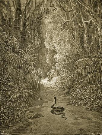 Satan As a Serpent Enters Paradise