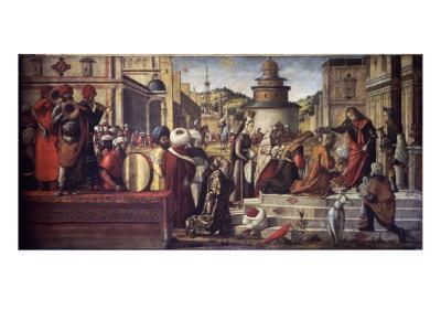 St. George Baptizes King Aio and Queen Silene
