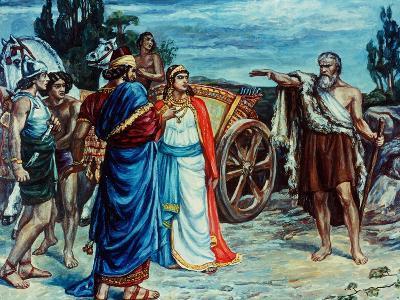 Jezabel and Ahab Meeting Elijah in Naboth's Vineyard