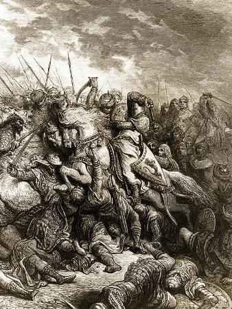 Richard I and Saladin in Battle of Acre, 1191