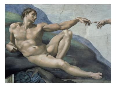 Creation of Adam (Detail of Adam)