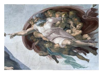 Creation of Adam (Detail of God)