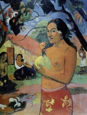 Woman Holding a Fruit, Where Are You Going?