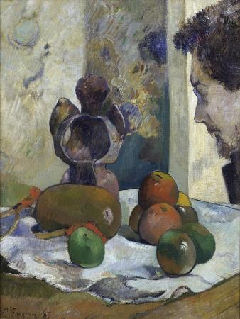 Still Life with Profile of Charles Laval