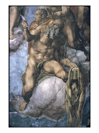 Saint Bartholomew with His Flayed Skin