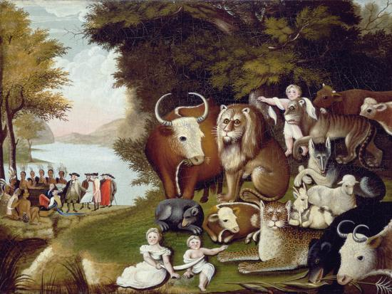 Image result for The peaceable Kingdom by Edward Hicks