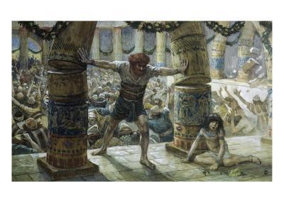 Samson Pulls Down the Pillars
