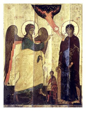 The Annunciation with St. Theodore of Tyre