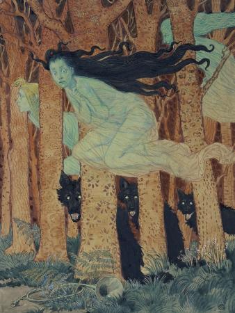 Three Women and Three Wolves