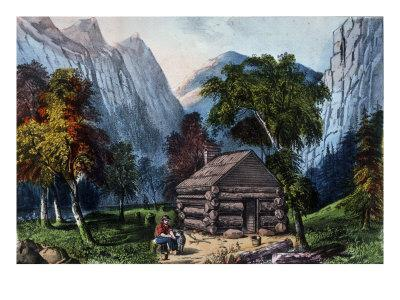 The Pioneer Cabin of the Yo-Semite Valley