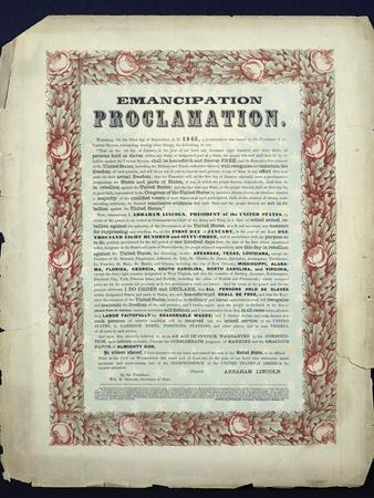 Emancipation Proclamation, 1862