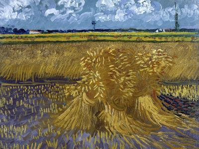 Wheatfield with Sheaves, c.1888