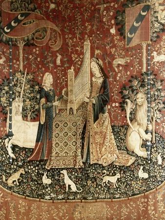 Lady and the Unicorn, Sense of Hearing