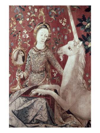 Lady and the Unicorn, Sense of Sight, Detail