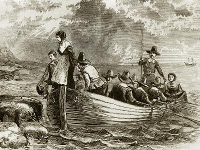 Landing of the Pilgrims at Plymouth Rock, 1620