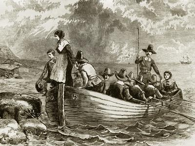 plymouth pilgrims rock landing 1620 mayflower history pilgrim colony migration england allposters posters immigrants print economy 1600 cod witch sp