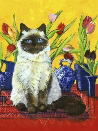 Cat and Tulips I (Chat Tulipes I)