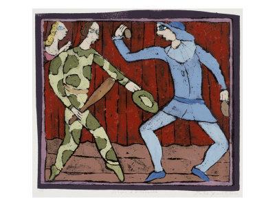 Harlequin and Scaramouche (Commedia Dell'Arte)