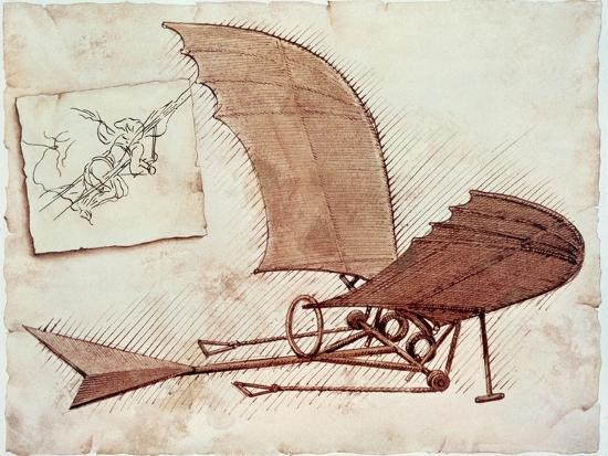f2f3a9bc Flying Machine Giclee Print by Leonardo da Vinci at AllPosters.com