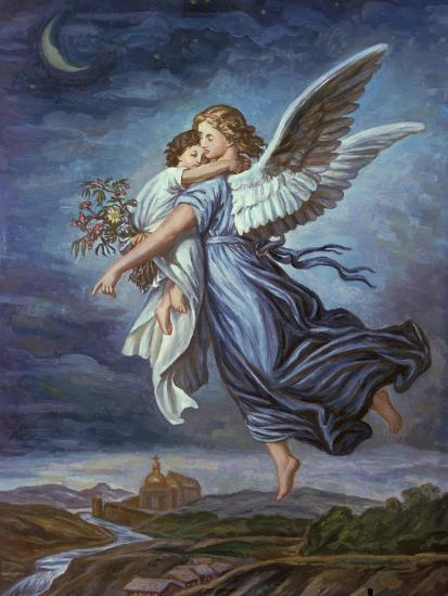 The Guardian Angel Giclee Print By Wilhelm Von Kaulbach At