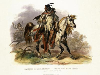 A Blackfoot Indian on Horseback, Plate 19 from Volume 1 of Travels in the Interior of North America