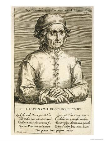 Portrait of Hieronymus Bosch Plate 3 in a Series of Portraits of Artists