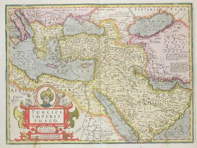 "Map of the Turkish Empire, from the Mercator ""Atlas"" Published by Jodocus Hondius Amsterdam, 1606"