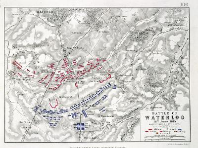 Battle of Waterloo, 18th June 1815, Sheet 1st