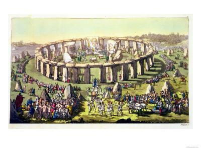 "Stonehenge, or a Circular Temple of the Druids, Plate 19 from ""The History of the Nations"""