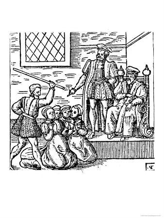 James I of England and VI of Scotland Examining the North Berwick Witches
