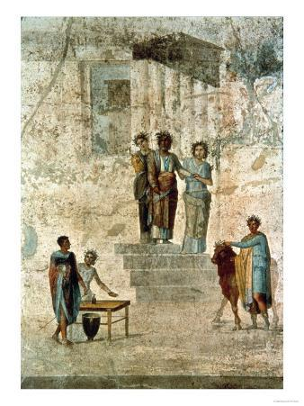 Jason and Pelias, from the House of Jason, or of the Fatal Loves, Pompeii, 1st Century AD