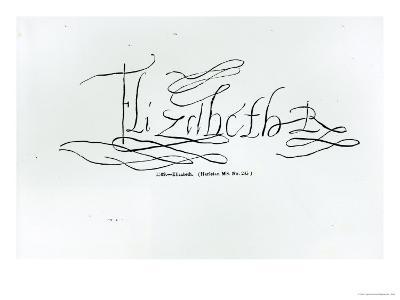 Signature of Queen Elizabeth I
