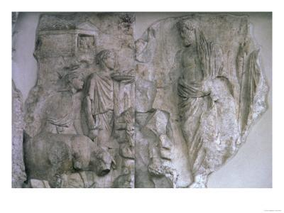The Sacrifice of Aeneas, Roman, 13-9 BC