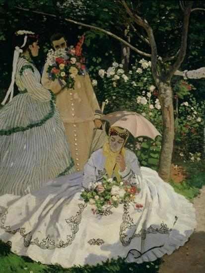 Women In The Garden Detail Of A Seated Woman With Parasol 1867