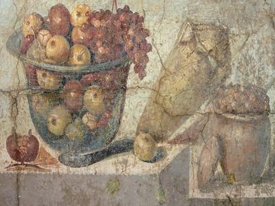 """Still Life with Bowls of Fruit and Wine-Jar, from the """"Casa Di Giulia Felice"""""""