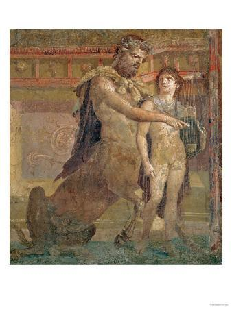 The Education of Achilles by Chiron, from Herculaneum