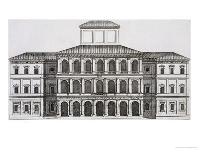 """Palazzo Barberini on the Quirinale, Finished 1630, from """"Palazzi Di Roma,"""" Part I, Published 1655"""