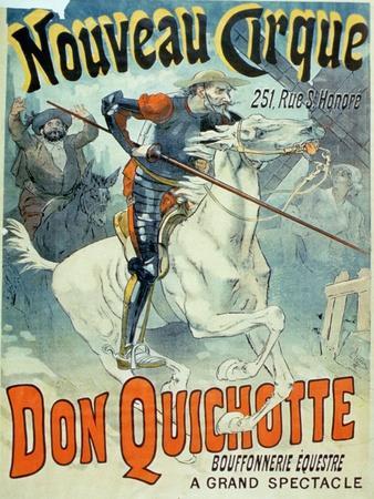 "Advertisement for ""Don Quixote, New Circus,"" Horseback Buffoonery"